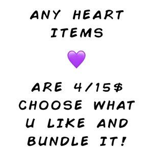 💜4/15$ -- Bundle Any Items In my Closet with 💜Emoji